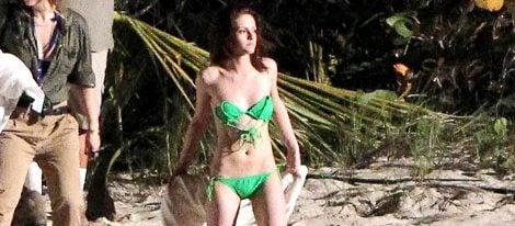 Kristen Stewart durante en rodaje de 'Amanecer'
