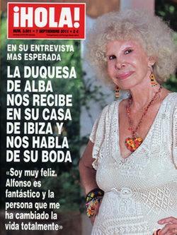 La Duquesa de Alba confiesa los detalles de su boda con Alfonso Díez