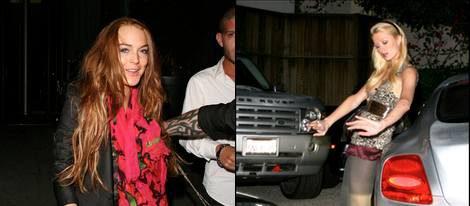 Lindsay Lohan y Paris Hilton pilladas borrachas después de una noche de fiesta