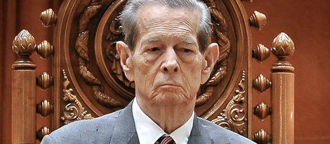 El Rey Miguel de Rumanía en el parlamento rumano