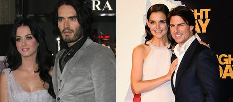 Katy Perry y Russell Brand - Katie Holmes y Tom Cruise