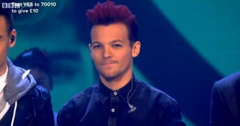 Louis Tomlinson en el Red Nose Day 2013