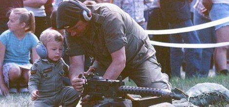 Cory Monteith de pequeño con su padre Joe
