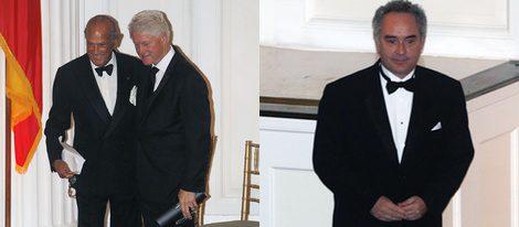 Óscar de la Renta, Bill Clinton y Ferrán Adrià