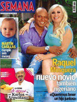 Raquel Mosquera con su nuevo novio en la revista Semana