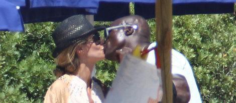 Heidi Klum y Seal durante sus vacaciones de verano