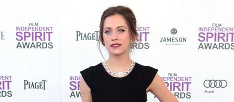 María León en la alfombra roja de los Independent Spirit Awards 2012