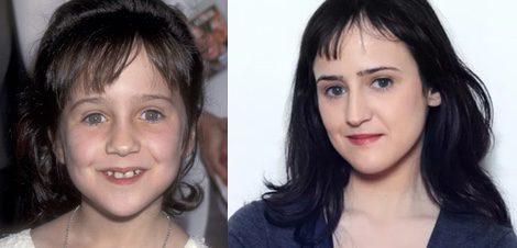 Mara Wilson en 1994 y en 2015