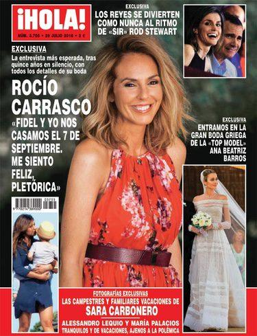 Rocío Carrasco protagoniza la portada de la revista Hola