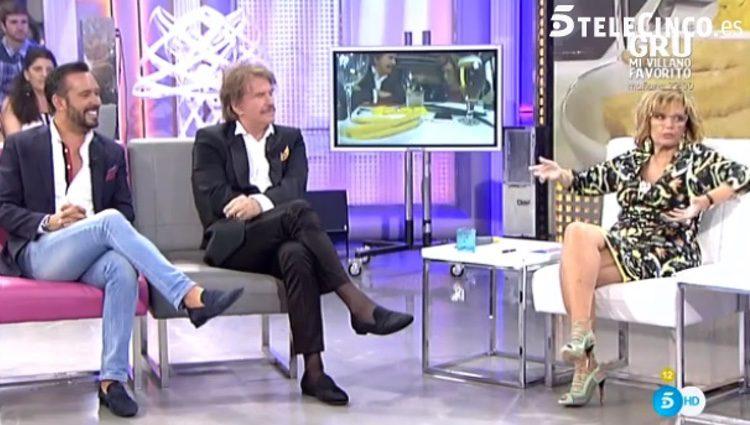 María Teresa Campos en uno de sus programas/ telecinco.es
