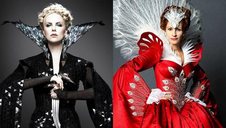 Ravenna y Clementianna: Las Reinas Malvadas de 2012 interpretadas por Charlize Theron y Julia Roberts
