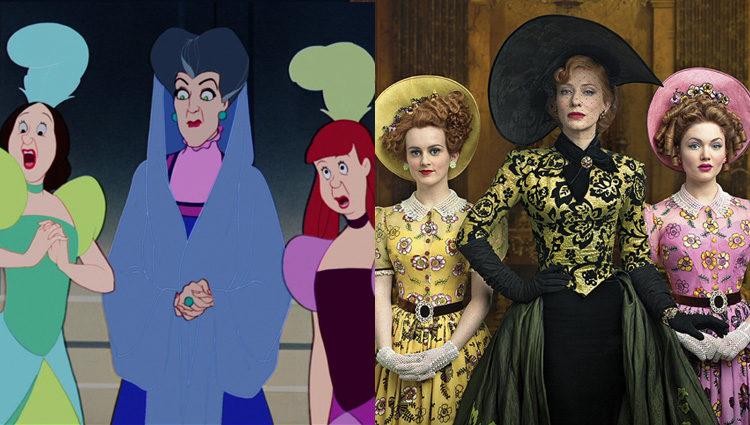 Lady Tremaine e hijas de 'La Cenicienta' (1950) y de 'Cinderella' (2015)