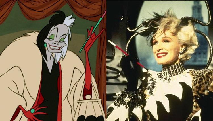 Glenn Close dio vida a la versión animada de Cruella de Vil en '101 Dálmatas'