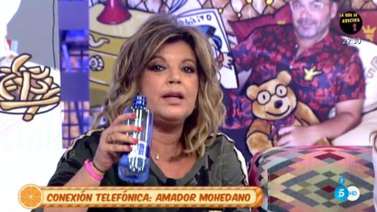 Terelu Campos durante su bronca con Amador Mohedano en 'Sálvame'