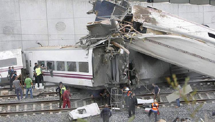 Imagen del accidente de Angrois