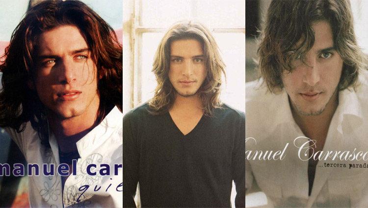 Manuel Carrasco en las portadas de sus primeros discos