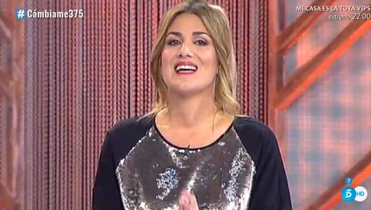 Carlota Corredera en su estreno como presentadora / Foto: telecinco.es