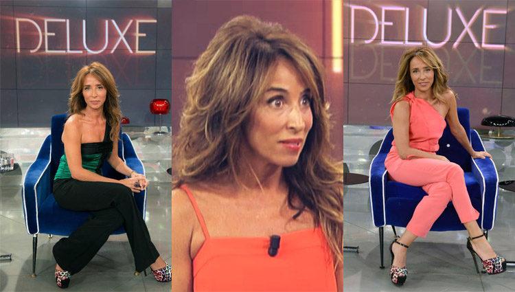 María Patiño en su faceta como presentadora de 'Sálvame Deluxe' en Telecinco