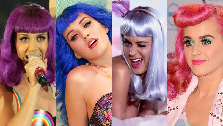 Katy Perry, apasionada de las pelucas y los colores llamativos