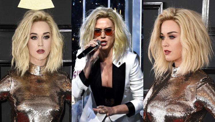 Katy Perry luce su nuevo look en los Premios Grammy 2017