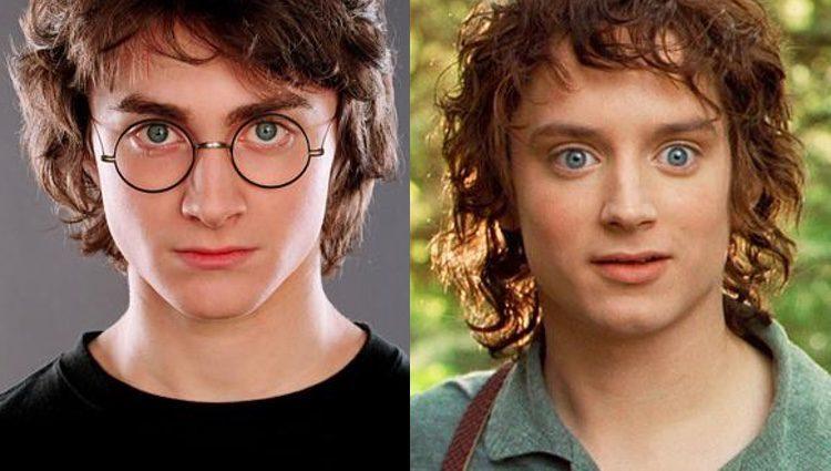 Daniel Radcliffe a la izquierda y Elijah Wood a la derecha