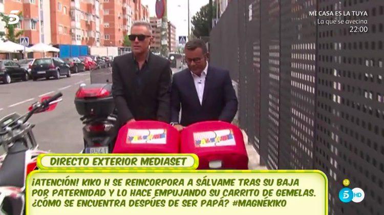 Kiko Hernández y Jorge Javier Vázquez con Jimena y Abril