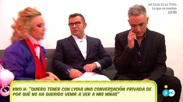 Lydia Lozano, Jorge Javier Vázquez y Kiko Hernández