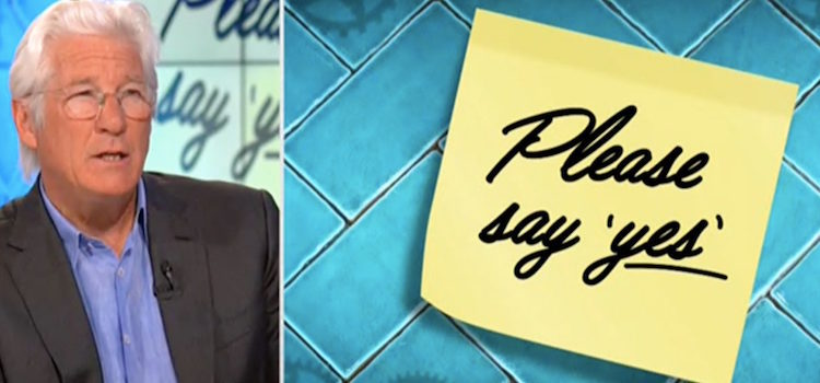 Richard Gere y la nota que le dejó Julia Roberts en 'Hora Punta'