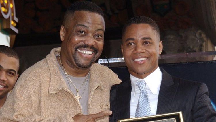 Cuba Gooding Sr. y Cuba Gooding Jr. juntos en en el estreno de la estrella del actor en el Paseo de la Fama