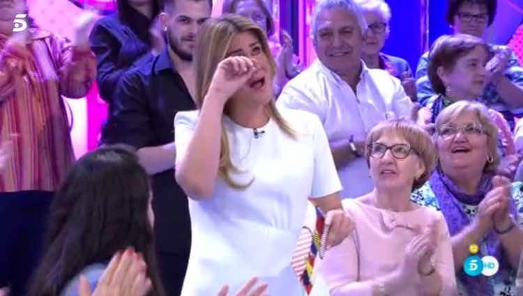 Carlota Corredera muy emocionada al hablar de su libro / Telecinco.es