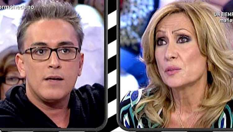 Rosa Benito y Kiko Hernández en una de sus trifulcas en 'Sálvame' / Telecinco.es