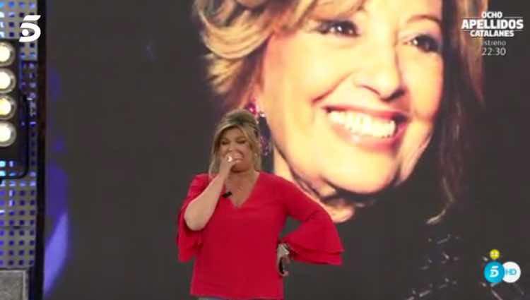 Terelu Campos, emocionada por el aplauso del público / Telecinco.es