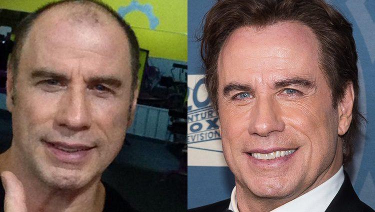 John Travolta calvo y con peluquín
