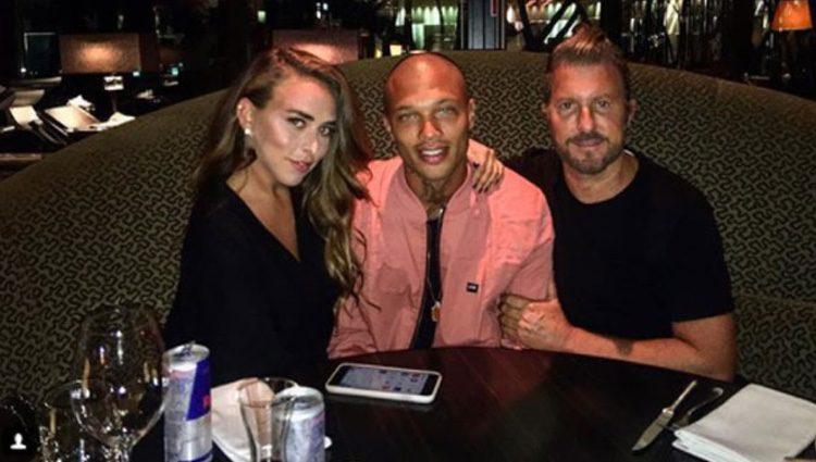 chloe green junto a jeremy meeks y su agente jim jordan fuente instagram