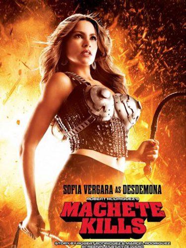 Sofía Vergara en la portada de la película 'Machete Kills'