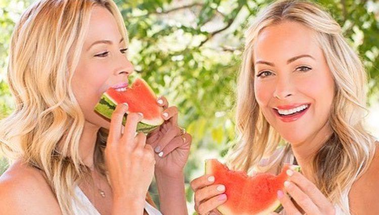 Las gemelas en una de sus muchas fotos saludables / Instagram