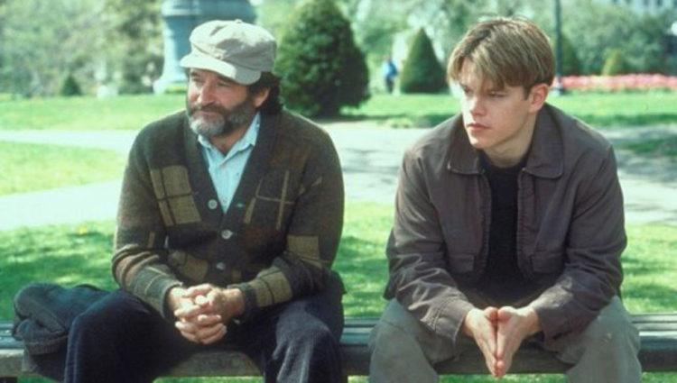 Williams y Damon en 'El indomable Will Hunting'
