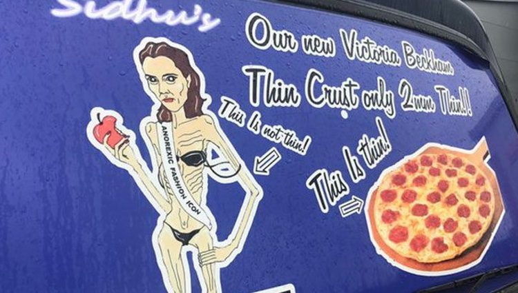 La publicidad lleva más de 3 años decorando las furgonetas del restaurante