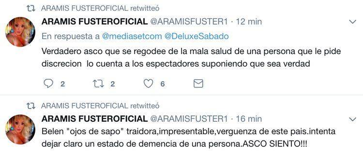Aramis Fuster ataca a Belén Esteban en Twitter