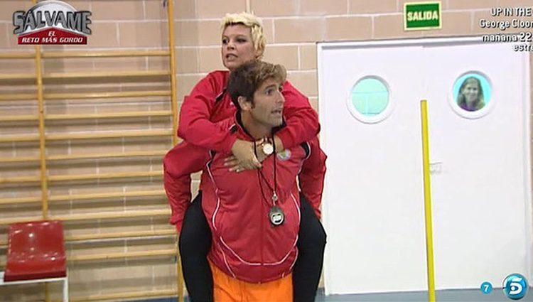 Terelu Campos con Efrén Reyero en 'Sálvame'/ Fuente: telecinco.es