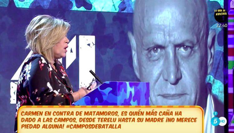 Terelu Campos en el debate de 'Sálvame' | Fuente: Telecinco
