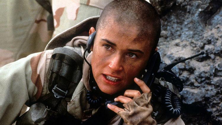 Moore en el filme 'La teniente O'Neil'
