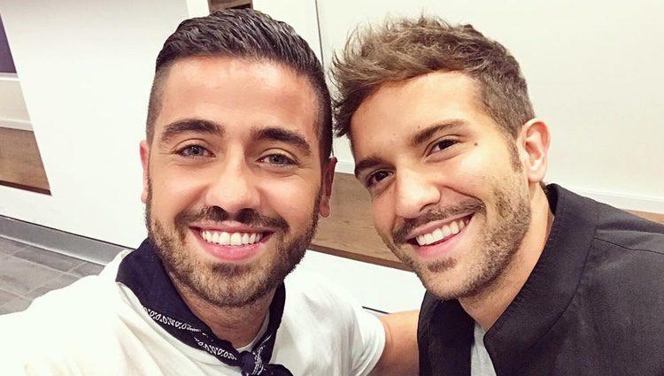 Borja Voces con Pablo Alborán / Instagram