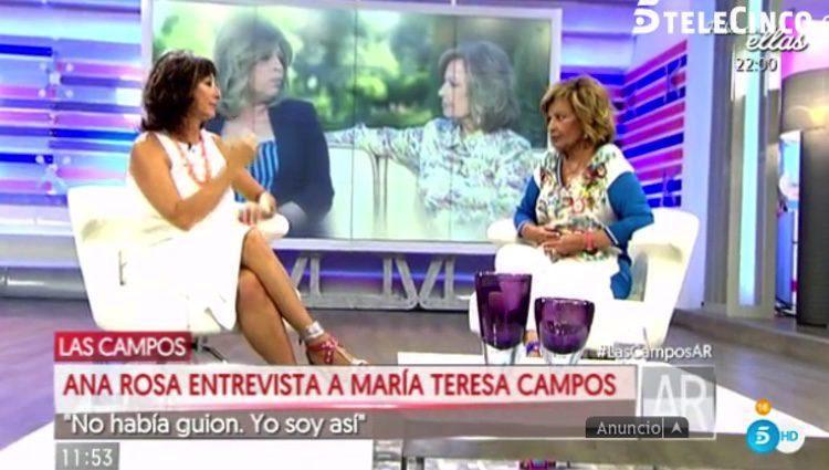 Mª Teresa Campos visita 'El programa de Ana Rosa'/Telecinco.es