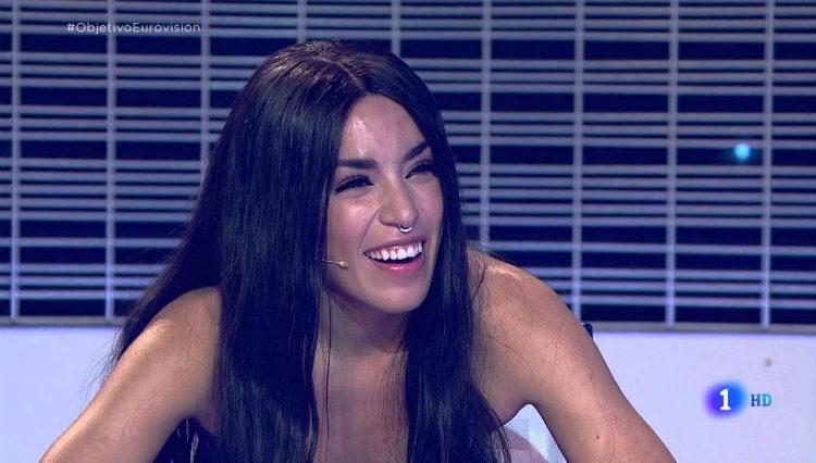 Loreen como jurado del programa de TVE 'Objetivo Eurovisión' en 2016