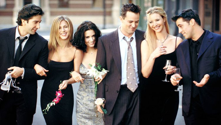 Ross, Rachel, Monica, Chandler, Phoebe y Joey en 'Friends'