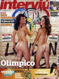 Patricia Sarrapio y Ana Torrijos en Interviú