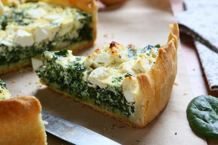 Quiche de espinacas y queso de cabra