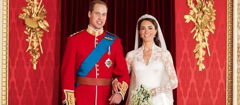 Foto oficial de la boda de los Duques de Cambridge