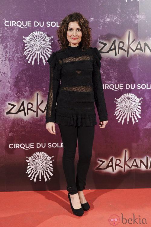 Ledicia Sola en el estreno de Zarkana